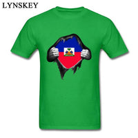 Haiti Country Flag Inside T Shirts