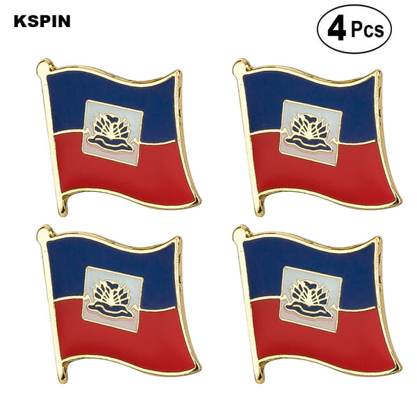 Haiti Flag Pin Lapel Pin Badge  Brooch Icons 4PC