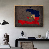 Haiti Maps Wall Decor/Poster Vintage