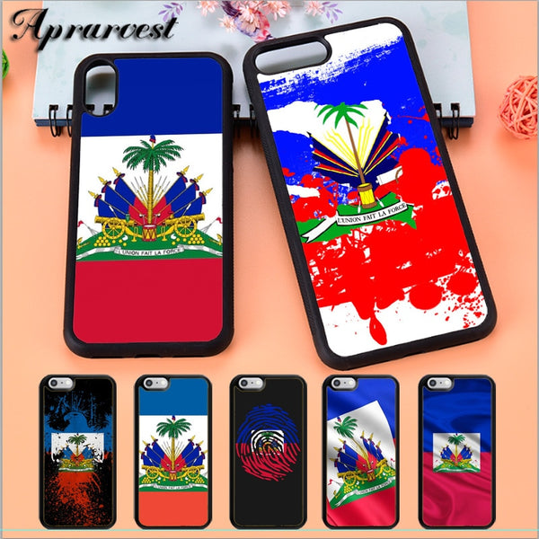 Vintage Haiti Haitian Flag iphone cases