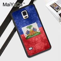 Haitian Flag Rubber Phone Case For Samsung Galaxy & Note
