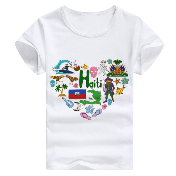 Haiti countries love printing design tees