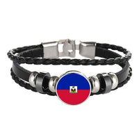 Customized Haiti Flag Bracelets n