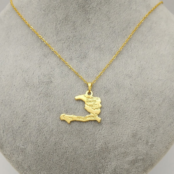 Haiti Map Necklace for Women