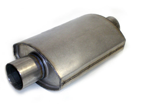 "Square Oval Racing Muffler 2.5"" x 2.5"" x 10"" - Extreme Mufflers"