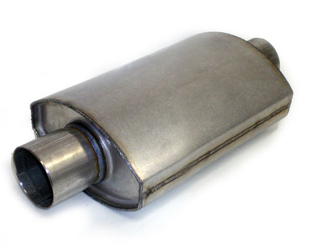 "Square Oval Racing Muffler 3"" x 3"" x 10"" - Extreme Mufflers"