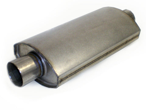 "Race Muffler Square Oval 2.5"" x 2.5"" x 14"" DIRT Super Stock Legal - Extreme Mufflers"