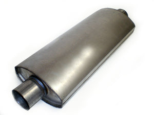 "Square Oval Racing Muffler 2.5"" x 2.5"" x 18"" - Extreme Mufflers"