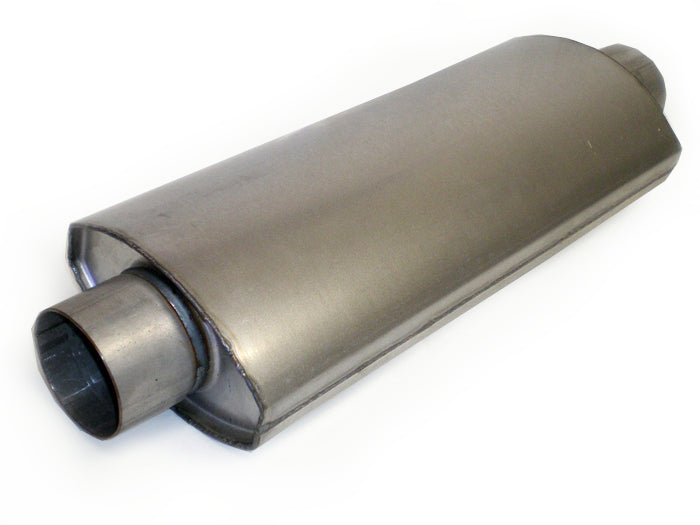 "Race Muffler Square Oval 3"" x 3"" x 18"" - Extreme Mufflers"