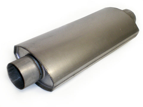 "Square Oval Racing Muffler 3"" x 3"" x 18"" - Extreme Mufflers"