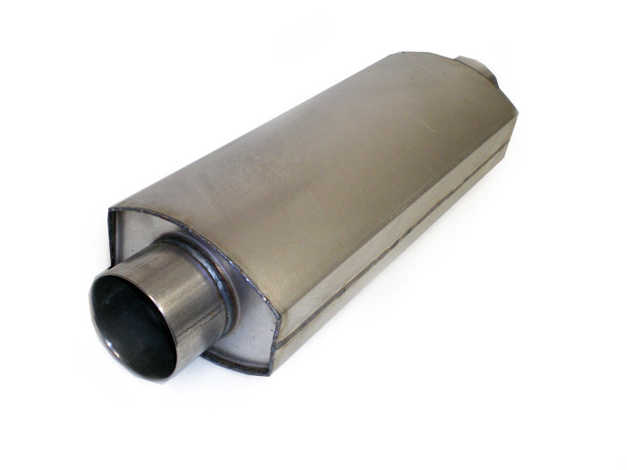"Race Muffler Square Oval 3.5"" x 3.5"" x 18"" - Extreme Mufflers"