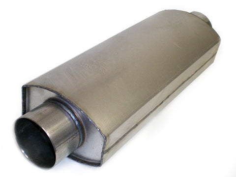 "Square Oval Racing Muffler 4"" x 4"" x 14"" - Extreme Mufflers"