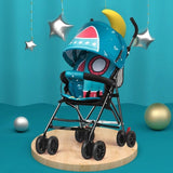 Lightweight Baby Stroller Children Car Baby Artifact Trolley Folding Portable Simple Ultra-light Four Wheels Pushchair for Kids
