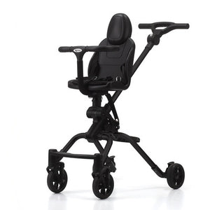 Slip baby artifact children's trolley four-wheel shock two-way high landscape car light folding pushchair