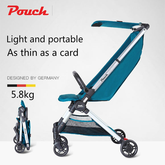Pouch Baby Stroller for newborn Plane Lightweight Portable Travelling Children Pushchair Folding Portable Trolley One  Stroller