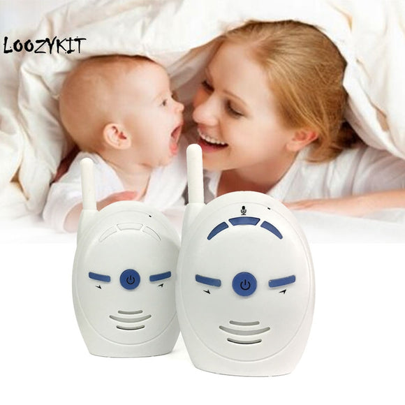 Loozykit 2.4GHz Wireless Baby Portable Digital Audio Baby Monitor Sensitive Transmission  Talk  Cry Voice