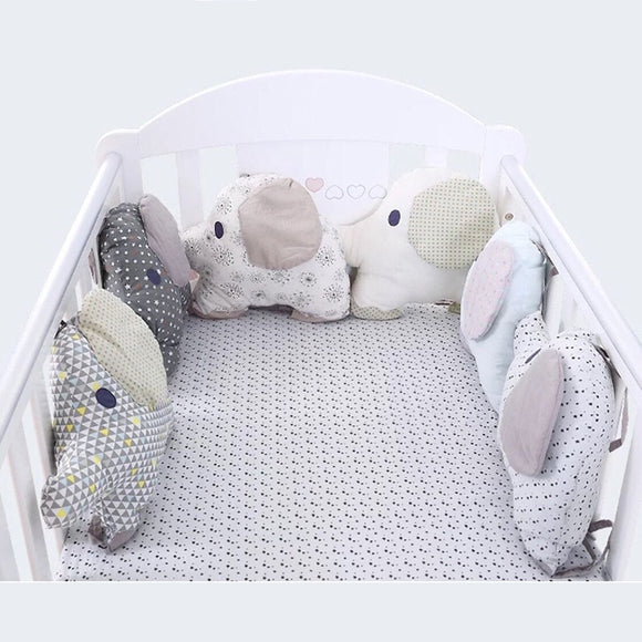 Hot Sale Baby Bed Bumper Crib Cot Elephant Bumper Baby Bed Protector Crib Bumper Newborns Toddler Bed Bedding Set