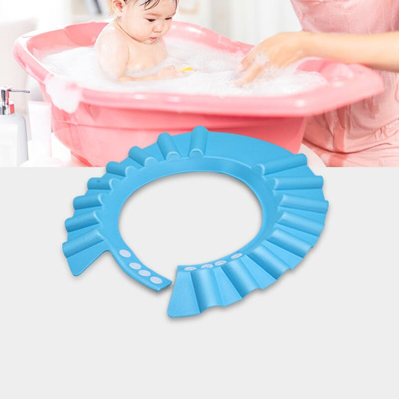 Baby Shower Caps Kids Baby Bath Hat Adjustable Baby  Wash Hair Protect Eyes Hair Wash Shield for Children Waterproof Cap