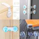 TYRY.HU 5pc/10pc Child Protection Multifunction Baby Safety Door Lock Drawer Cupboard Window Protection Baby Security Products
