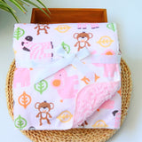 Baby Blanket New Brand Thicken Double Layer Coral Fleece Infant Swaddle Envelope Stroller Wrap For Newborn Baby Bedding Blankets