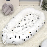 Washable Cotton Baby Nest Bed with Mattress Travel Crib For Newborns Portable Baby Crib Babynest