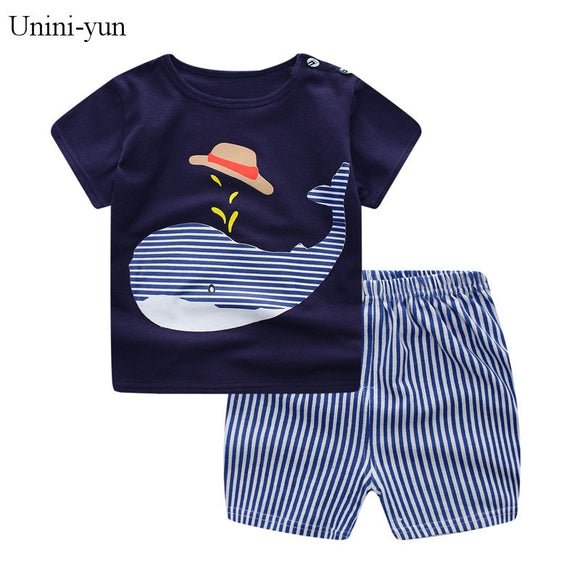 Children's Wear 2018 spring Summer Baby kids Boys Sports casual Suit boy T-shirt + jeans 2pc Set Children's Clothes kids clothes