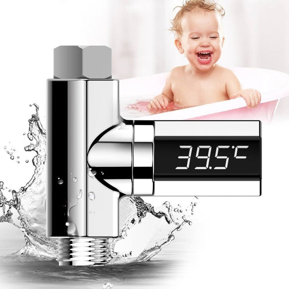 2020 Led Display Water Shower Thermometer LED Display Home Water Shower Thermometer Flow Water Temperture Monitor