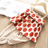 Keelorn Girls Clothing Sets Summer Kids lovely Sweet Streetwear outfits Splicing Design T-shirt+long Pants 2Pcs Girls Clothes