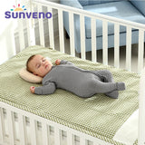 SUNVENO Brand Cotton 3-layer Design Breathable Baby Cot Sheets Children Summer Sleeping Mat Crib Bed Sheets for Newborn 120*70