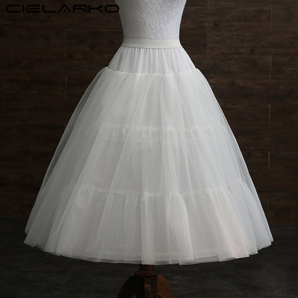 Cielarko Girls Skirt Kids Petticoat for Formal Gown Tulle Basic Children White Underskirt with Hoops for Wedding Accessories