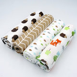 High Quality 4PCS/PACK 100% Cotton Supersoft Flannel Receiving Baby Blanket Swaddle Baby Bedsheet 76*76CM Baby Blankets Newborn