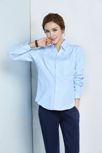 Pregnant Women Long-sleeved Shirt V-neck Pregnancy Work Wear Professional Blouses Spring Autumn Maternity business attire