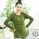 2018 Autumn Winter Fashion Casual Maternity Clothing long sleeve nursing top clothes breastfeeding clothing for pregnant women