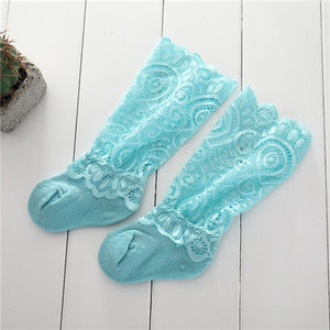 Lace Knee Socks Girls Beauty Princess Style Toddler Long Socks Summer Socks for Girls Baby Dresses Clothes Accessories