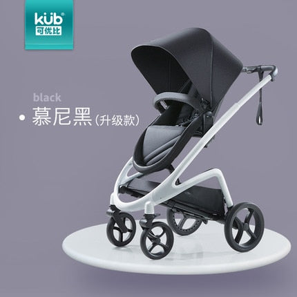 Europe kub  Baby Stroller 3 in1 4 in 1  Two-way implement vision high land scape travel s Baby Carriage Pushchair Folding Wi