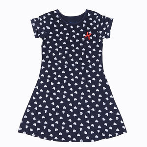 2018 Girls Dress 100% Cotton Summer Print Teenagers Dresses for Girls Designer Princess Party Dress Baby Kids Party Wear 1-13Y