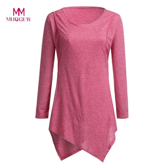 MUQGEW Maternity Clothes Women's Pregnancy Circular Collar T-shirt Cotton Maternity Nursing Baby Tops Clothes NEW Lactation