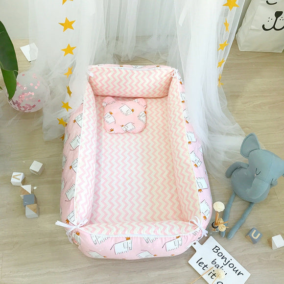 2019 Baby Infant Kids Crib Bed Portable Crib Cots Baby Nest Bed Sleeping Artifact Travel Bed Bedding Sets Bumper Cot Mattress