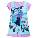 Summer cartoon baby Dresses for Girls Vampirina Clothing Kids Princess Birthday Party dress cotton Kids Clothes Dress Vestido