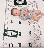 Fancy Baby Bed Sheet Newborn Photography Props Monthly Growth Background Blankets Lovely Sweet