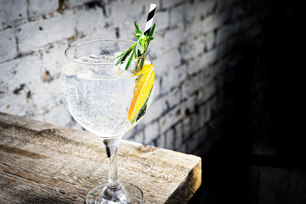 Mediterranean Gin and Tonic with Rosemary and Orange