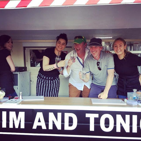Five people behind the Jim and Tonic mobile gin van