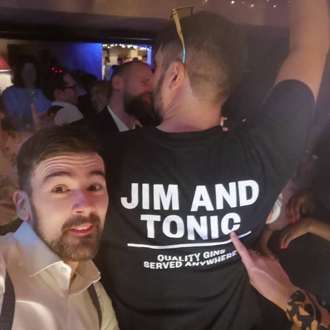 Jim with black Jim and Tonic t-shirt