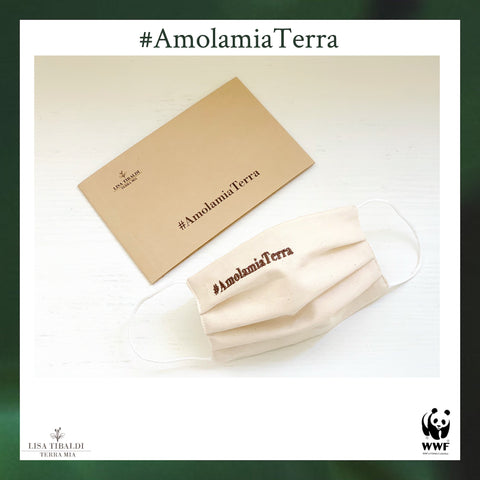 Lisa Tibaldi Terra Mia non-profit fundraising campaign for WWF Lazio coast #AmolamiaTerra ecological reusable masks