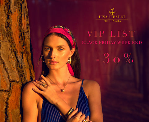 Lisa Tibaldi Terra Mia Blog News Black Friday is coming... Lisa TIbaldi Terra Mia Vip List per -30% sconto su black friday week end