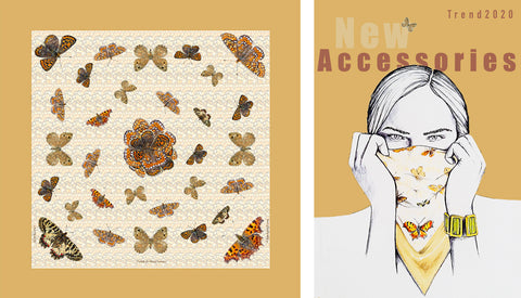 Lisa Tibaldi Terra Mia Collection Foulard in silk 100% Made in Itali Blog News New Accessories emergency Covid-19 masks