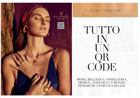 The QR code at the service of shopping Lisa TIbaldi Terra Mia luxury brand of eco-sustainable fashion accessories made in Italy accepts the digital challenge