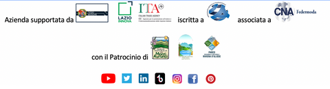Lisa TIbaldi Terra Mia luxury brand of eco-sustainable fashion accessories made in Italy, logos supportes, sponsorships and various