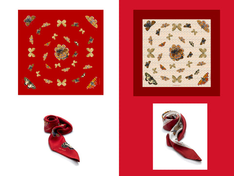 Lisa Tibaldi Terra Mia Blog News A beautiful idea for the head Scarf Collection 100% Made in Italy pure silk