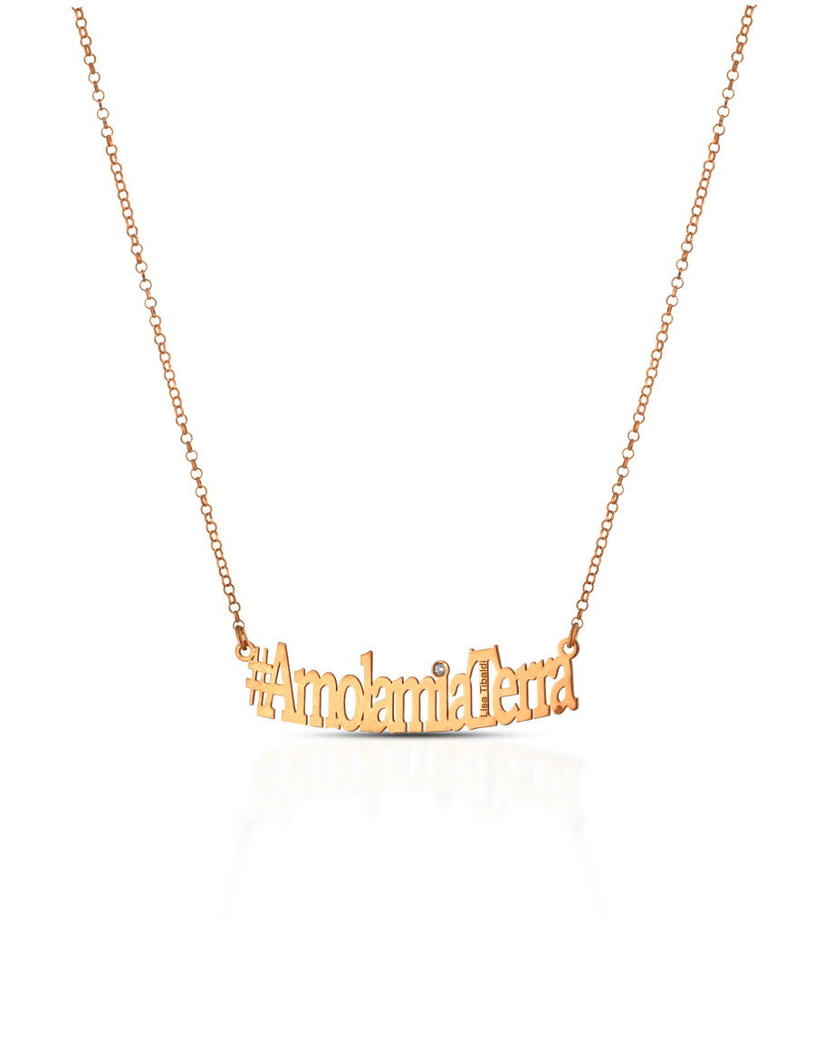 #AmolamiaTerra silver 925 necklace  Rose Gold coor